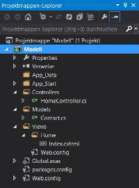Projektmappenexplorer-Screenshot