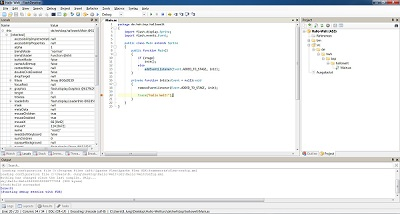 Screenshot FlashDevelop: Debugging