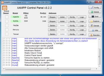 XAMPP-Screenshot