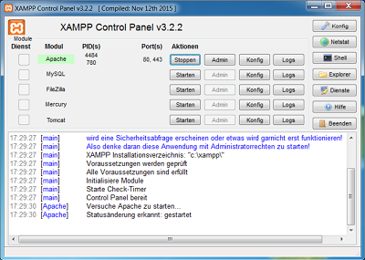 XAMPP-Screenshot